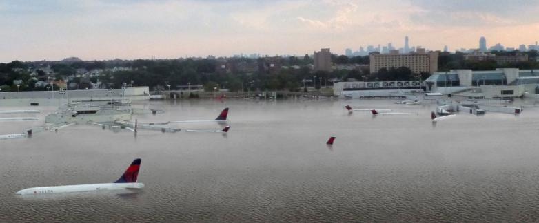 Harvey Houston Airport flooding